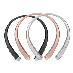 Беспроводные наушники Bluetooth 4.1 на мягком шейном эргономичном ободе с функцией автосматывания