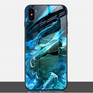 Силиконовый матовый непрозрачный чехол с текстурной поликарбонатной накладкой для Iphone 7/8