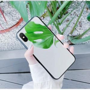 Силиконовый матовый непрозрачный чехол с зеркальной поликарбонатной накладкой для Iphone 7/8