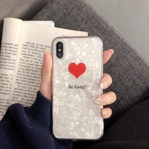 Силиконовый глянцевый непрозрачный чехол с улучшенной защитой элементов корпуса (заглушки) и текстурным покрытием Камень для Iphone 7/8 Белый