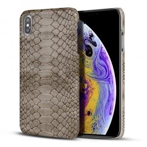 Пластиковый непрозрачный матовый чехол с текстурным покрытием кожа Змеи для Iphone 7/8 Серый