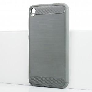 Силиконовый матовый непрозрачный чехол с текстурным покрытием Металлик для Asus ZenFone Live Серый