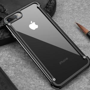 Металлический округлый бампер сборного типа на винтах для Iphone 7/8 Черный