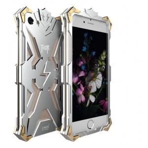 Цельнометаллический противоударный чехол из авиационного алюминия на винтах с мягкой внутренней защитной прослойкой для гаджета с прямым доступом к разъемам для Iphone 7/8 Белый