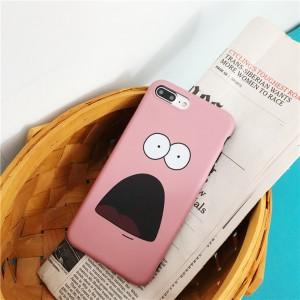 Силиконовый матовый непрозрачный чехол с полноповерхностным принтом для Iphone 7 Розовый