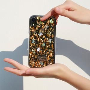 Силиконовый матовый полупрозрачный чехол с текстурным покрытием Золото и встроенной эмблемой для Iphone 7/8 Бежевый