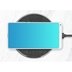 Беспроводное зарядное устройство 10Вт с тканевым покрытием  Черный