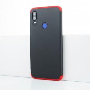 Пластиковый непрозрачный матовый чехол сборного типа для Xiaomi RedMi Note 7 Красный