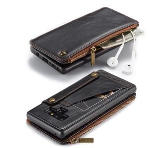Силиконовый матовый непрозрачный чехол накладка с текстурным покрытием Кожа отсеком для карт и кожаной крышкой портмоне с отсеком для карт для Iphone 7/8 Черный