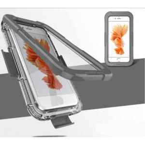Пластиковый полупрозрачный матовый чехол с улучшенной защитой элементов корпуса Аквабокс закрытого типа для Iphone 7/8 Серый