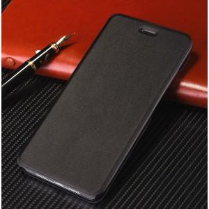 Чехол флип подставка на пластиковой основе для Xiaomi RedMi Note 7 Черный