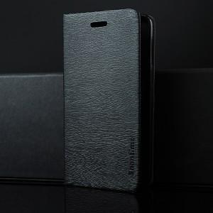 Чехол горизонтальная книжка подставка текстура Дерево на силиконовой основе с отсеком для карт для Alcatel 3 Черный