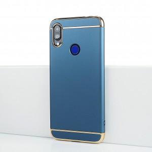 Пластиковый непрозрачный матовый сборный чехол для Xiaomi RedMi Note 7 Синий