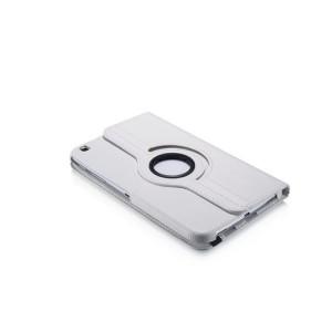 Роторный чехол книжка подставка на непрозрачной поликарбонатной основе с поддержкой кисти для Samsung Galaxy Tab 3 8.0 Белый