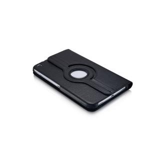 Роторный чехол книжка подставка на непрозрачной поликарбонатной основе с поддержкой кисти для Samsung Galaxy Tab 3 8.0 Черный