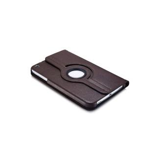 Роторный чехол книжка подставка на непрозрачной поликарбонатной основе с поддержкой кисти для Samsung Galaxy Tab 3 8.0 Коричневый