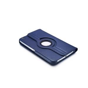 Роторный чехол книжка подставка на непрозрачной поликарбонатной основе с поддержкой кисти для Samsung Galaxy Tab 3 8.0 Синий