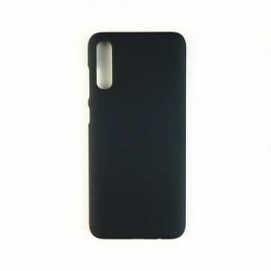 Пластиковый непрозрачный матовый чехол для Samsung Galaxy A50  Черный