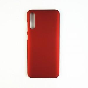 Пластиковый непрозрачный матовый чехол для Samsung Galaxy A50  Красный