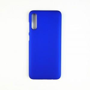 Пластиковый непрозрачный матовый чехол для Samsung Galaxy A50  Синий