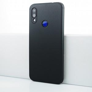 Пластиковый непрозрачный матовый чехол сборного типа для Xiaomi RedMi Note 7 Черный