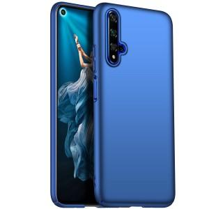 Пластиковый непрозрачный матовый чехол с улучшенной защитой элементов корпуса для Huawei Honor 20  Синий