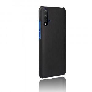 Чехол накладка текстурная отделка Кожа для Huawei Honor 20 Черный