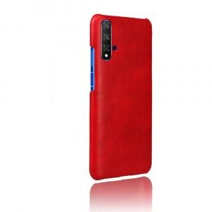 Чехол накладка текстурная отделка Кожа для Huawei Honor 20 Красный