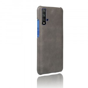 Чехол накладка текстурная отделка Кожа для Huawei Honor 20 Серый