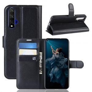 Чехол портмоне подставка на силиконовой основе с отсеком для карт на магнитной защелке для Huawei Honor 20