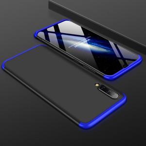 Двухкомпонентный сборный двухцветный пластиковый матовый чехол для Samsung Galaxy A70  Синий