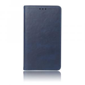 Чехол портмоне подставка с отсеком для карт на присосках для Huawei Honor 10 Lite/P Smart (2019) Синий
