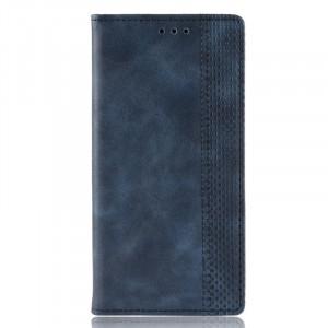 Винтажный чехол портмоне подставка на силиконовой основе с отсеком для карт для Huawei Honor 10 Lite/P Smart (2019) Синий