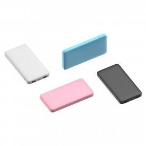Портативное зарядное устройство 10000mAh с 2 USB разъемами в пластиковом корпусе