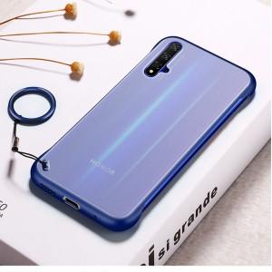 Пластиковый полупрозрачный ультратонкий чехол для Huawei Honor 20 Синий