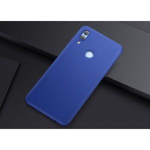 Силиконовый матовый непрозрачный чехол для Huawei Honor 10 Lite  Синий