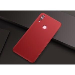 Силиконовый матовый непрозрачный чехол для Huawei Honor 10 Lite  Красный