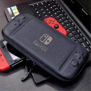 Противоударный футляр повышенной жесткости с тканевым покрытием и отсеками для картриджей для Nintendo Switch Синий