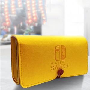 Войлочная папка с отсеками для картриджей на резинке для Nintendo Switch Желтый