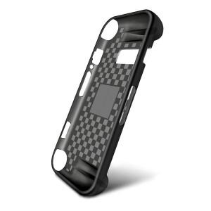 Эргономичный силиконовый матовый полупрозрачный чехол накладка текстура Клетка для Nintendo Switch Черный