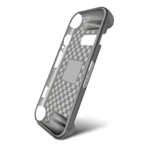 Эргономичный силиконовый матовый полупрозрачный чехол накладка текстура Клетка для Nintendo Switch Серый
