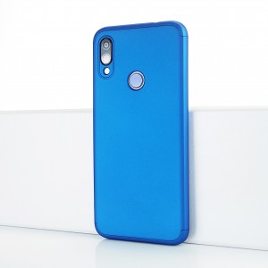 Двухкомпонентный сборный пластиковый матовый чехол для Xiaomi RedMi Note 7 Синий