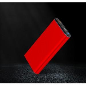 Портативное зарядное устройство 20000 mAh с 2-я USB разъемами (5V/2.1А) и разъемом Type-C, поддержкой быстрой зарядки QC3.0 и LCD-экраном Красный