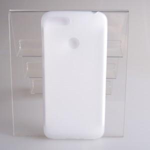 Силиконовый матовый полупрозрачный чехол для Huawei Honor 7A Pro  Белый