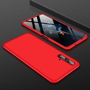 Двухкомпонентный сборный пластиковый матовый чехол для Huawei Honor 20  Красный