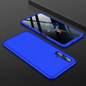 Двухкомпонентный сборный пластиковый матовый чехол для Huawei Honor 20  Синий