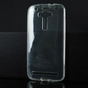 Силиконовый глянцевый транспарентный чехол сборного типа для ASUS Zenfone 2 Laser Белый