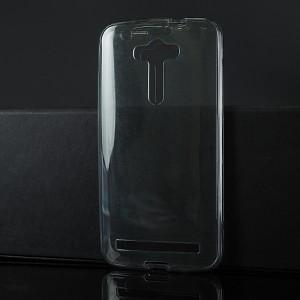 Силиконовый глянцевый транспарентный чехол сборного типа для ASUS Zenfone 2 Laser Черный