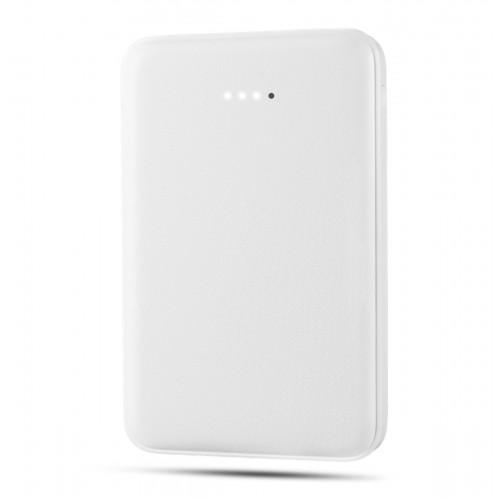 Компактное портативное зарядное устройство 10000 mAh li-pol с LED-индикацией заряда и 2 разъемами USB