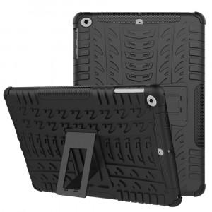 Противоударный двухкомпонентный силиконовый матовый непрозрачный чехол с поликарбонатными вставками для экстрим защиты с встроенной ножкой-подставкой для Ipad Mini 4/Mini (2019) Черный